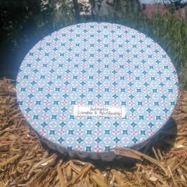 Disponible : 3 pièces de 25 cm - 3 pièces de 30 cm - 1 pièce de 35 cm - Vitraux Bleus'