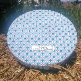 Disponible : 9 pièces de 25 cm - 4 pièces de 30 cm - 2 pièces de 35 cm - Vitraux Bleus'