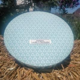 Disponibles : 2 pièces 35cm - triangle menthe 2 'Triangle Menthe 2'