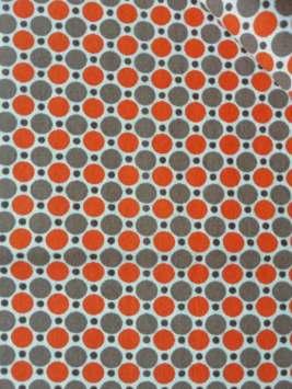 Tissus 'Pois brun-orange' - 3 lots possibles