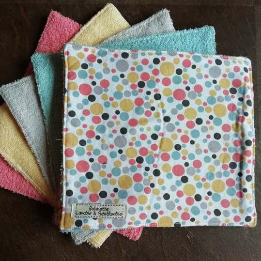 Disponible : 2 lots de 8 pièces - Bulles Multicolores