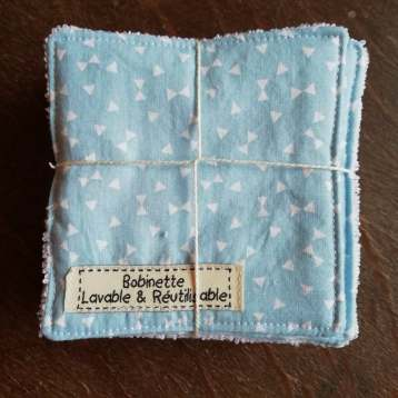 Disponible : 1 lot de 5 pièces - noeud pap' bleus