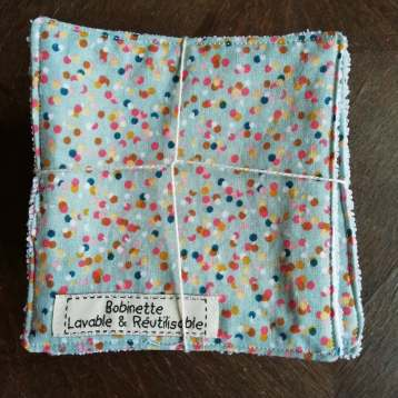 Disponible : 1 lots de 5 pièces - Pois multicolors