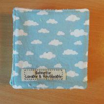Disponible : 2 lot de 5 pièces - nuages bleus