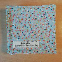 Disponible : 2 lots de 5 pièces - pois multicolores