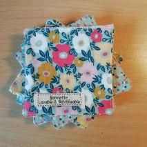 Disponible : 1 lot de 5 pièces - pois multi - tapis fleuri mixte