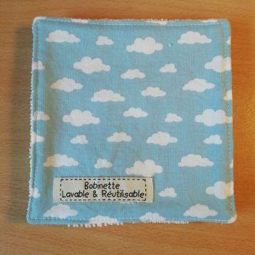 Disponible : 1 lot de 5 pièces - nuages bleus
