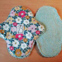 2 pièces - tapis fleuri - éponge bleue