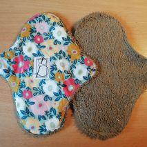 2 pièces - tapis fleuri - éponge brune