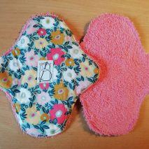 1 pièces - tapis fleuri - éponge rose