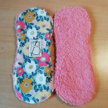 3 pièces - tapis fleuri - éponge rose