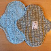 2 pièces - feuilles grises éponge bleue