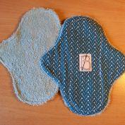 5 pièces - Triangle bleu canard - éponge bleue